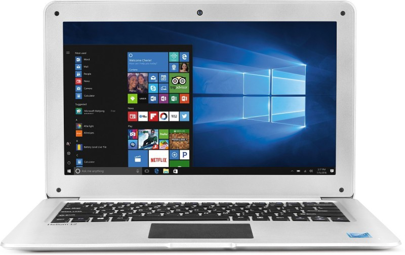 Lava Helium Atom Quad Core 7th Gen - (2 GB/32 GB EMMC Storage/Windows 10 Home) C121 Laptop(12.5 inch, SIlver, 1.31 kg)